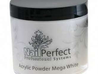 NAIL PERFECT PREMIUM ACRYLIC POWDER MEGA WHITE 25GR